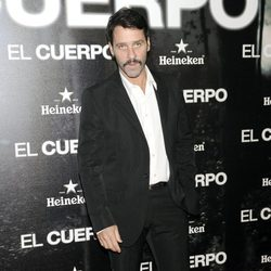 Juan Pablo Shuk en el estreno de 'El Cuerpo'