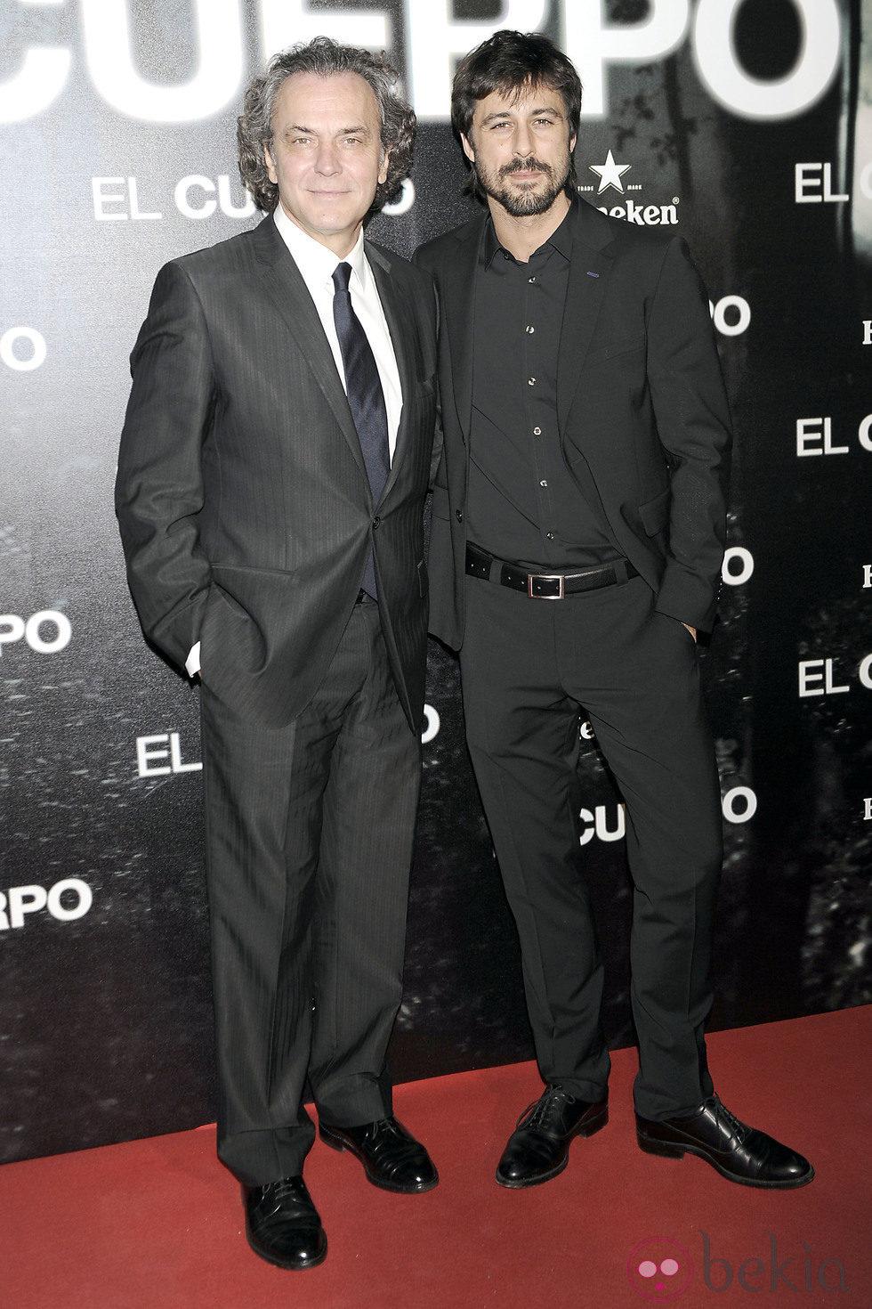 José Coronado y Hugo Silva en el estreno de 'El Cuerpo'