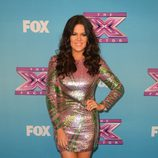 Khloe Kardashian en la gala final de 'The X Factor'