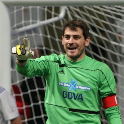Iker Casillas en el 'Partido x la ilusión' 2012