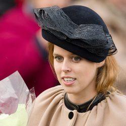 La Princesa Beatriz de York en la Misa de Navidad en Sandringham