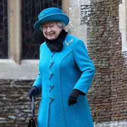 La Reina Isabel II en la Misa de Navidad en Sandringham