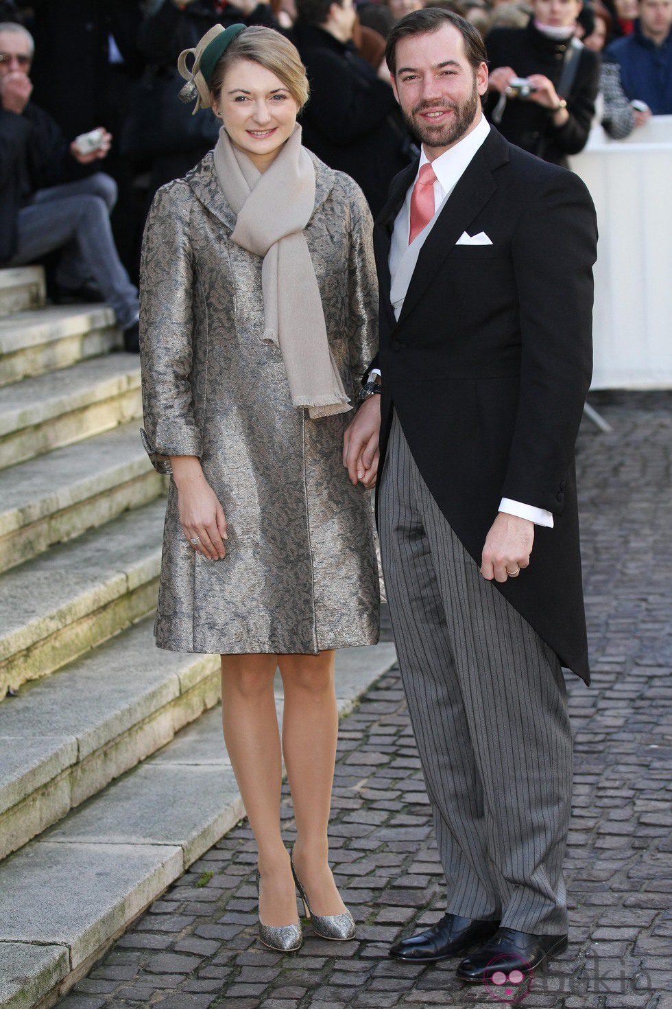 Guillermo de Luxemburgo y Stéphanie de Lannoy en la boda de Christoph de Austria