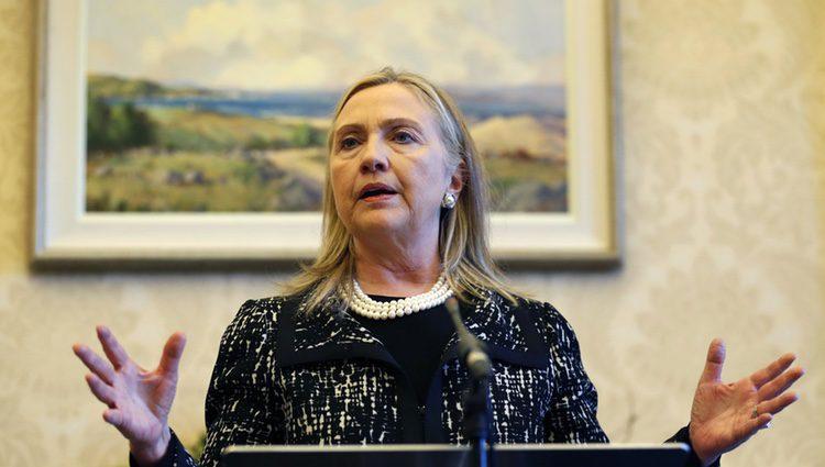 Hillary Clinton en una conferencia el 7 de diciembre de 2012