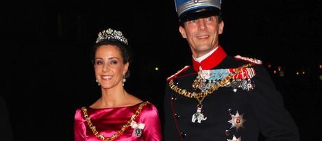 Joaquín y Marie de Dinamarca en la cena de gala de Año Nuevo