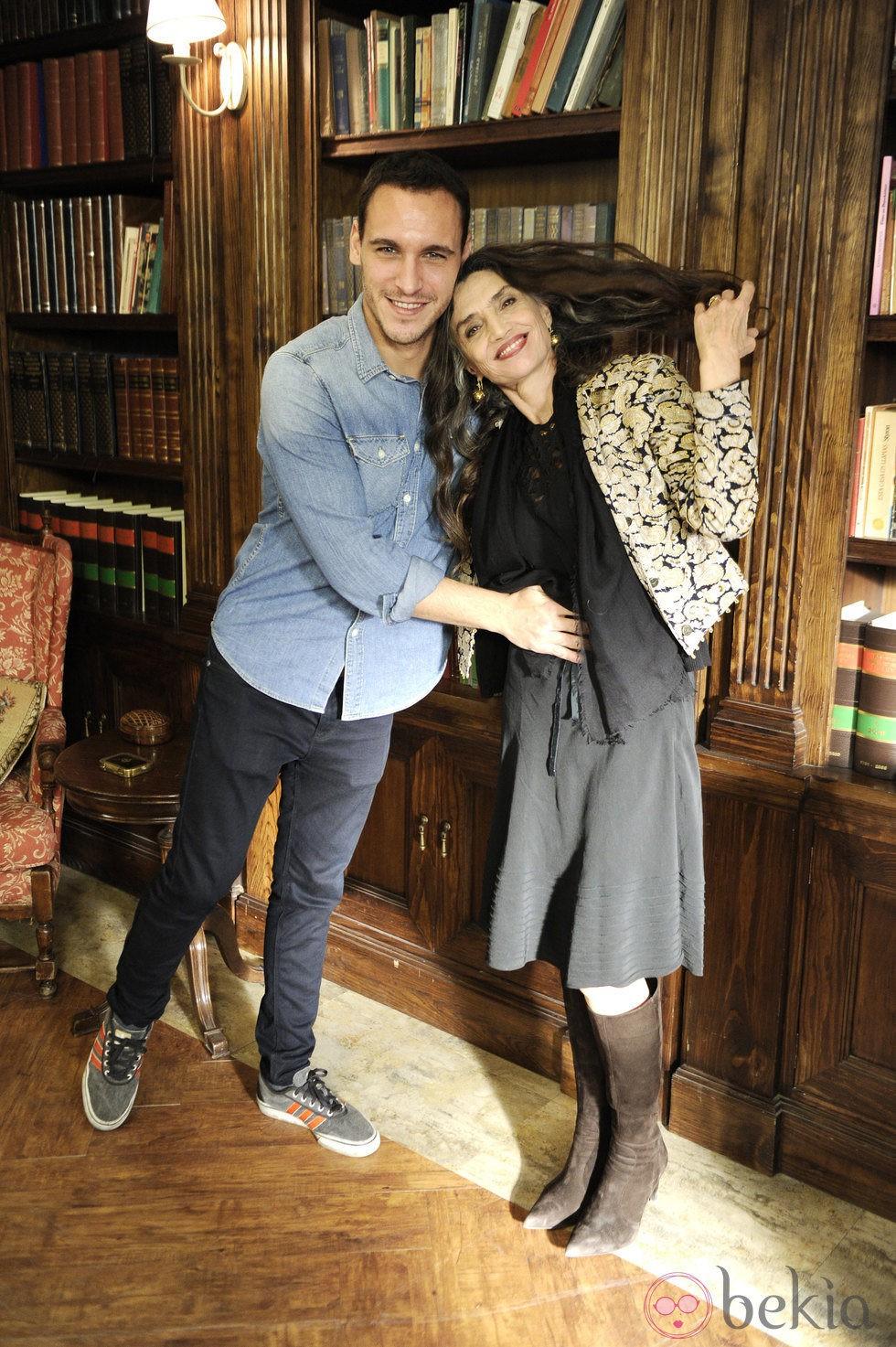Ricard Sales y Ángela Molina en la presentación de la tercera temporada de 'Gran Reserva'