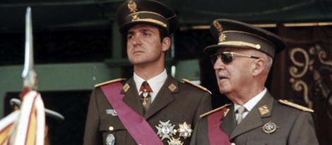 Juan Carlos de Borbón y Francisco Franco