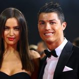 Irina Shayk y Cristiano Ronaldo en la gala de entrega del Balón de Oro 2012