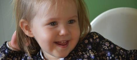 La Princesa Josefina de Dinamarca en su 2 cumpleaños