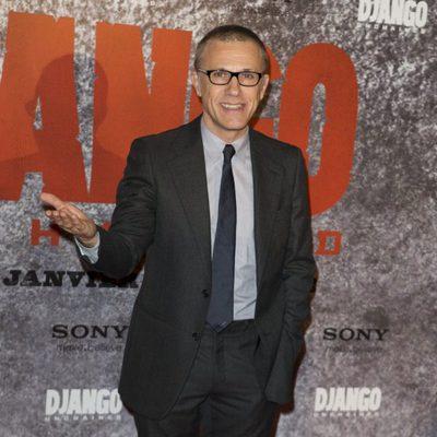 Christoph Waltz en la premiere de 'Django Desencadenado' en París