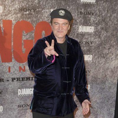 Quentin Tarantino en la premiere de 'Django Desencadenado' en París