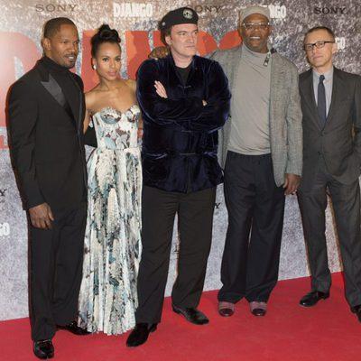 Jamie Foxx, Kerry Washington, Quentin Tarantino, Samuel L. Jackson y Christoph Waltz en la premiere de 'Django Desencadenado'