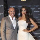 Irina Shayk con un vestido de Pronovias junto a Manuel Mota