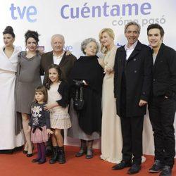 Los Alcántara en el estreno de la 14 temporada de 'Cuéntame cómo pasó'