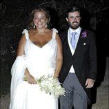 Caritina Goyanes se casó con un vestido de Manuel Mota