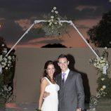 Almudena Cid se casó con Christian Gálves con un vestido de Manuel Mota