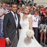 Rocío Escalona se casó con José María Manzanares con un vestido de Manuel Mota