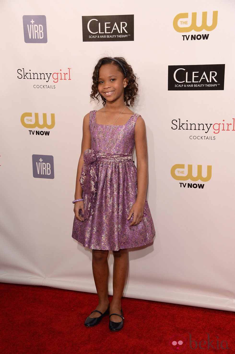 Quvenzhané Wallis en los Critics' Choice Movie Awards 2013