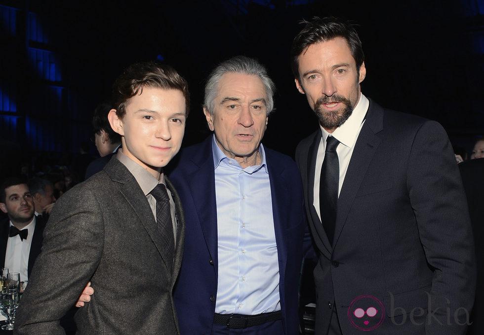 Tom Holland, Robert De Niro y Hugh Jackman en los Critics' Choice Movie Awards 2013