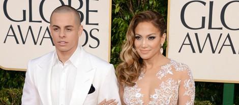 Jennifer Lopez y Casper Smart en los Globos de Oro 2013