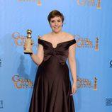 Lena Dunham, Mejor actriz de comedia por 'Girls' en los Globos de Oro 2013