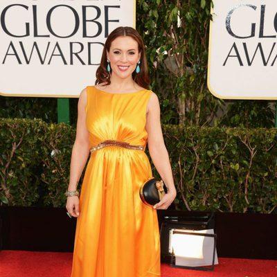 Alyssa Milano en los Globos de Oro 2013