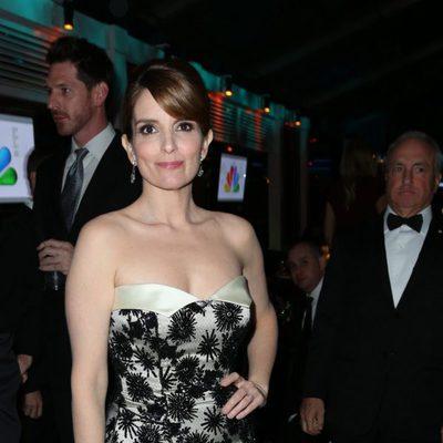Tina Fey en la fiesta NBC tras los Globos de Oro 2013
