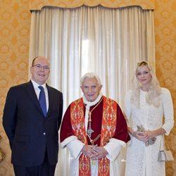 Los Príncipes de Mónaco y el Papa Benedicto XVI en El Vaticano