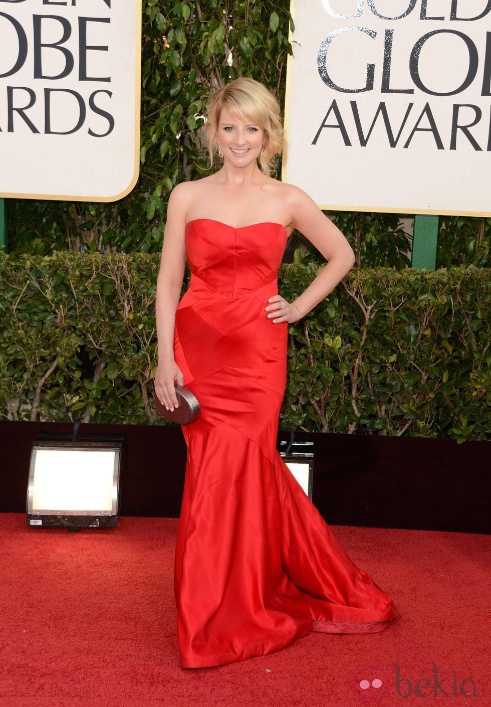 Melissa Rauch en los Globos de Oro 2013