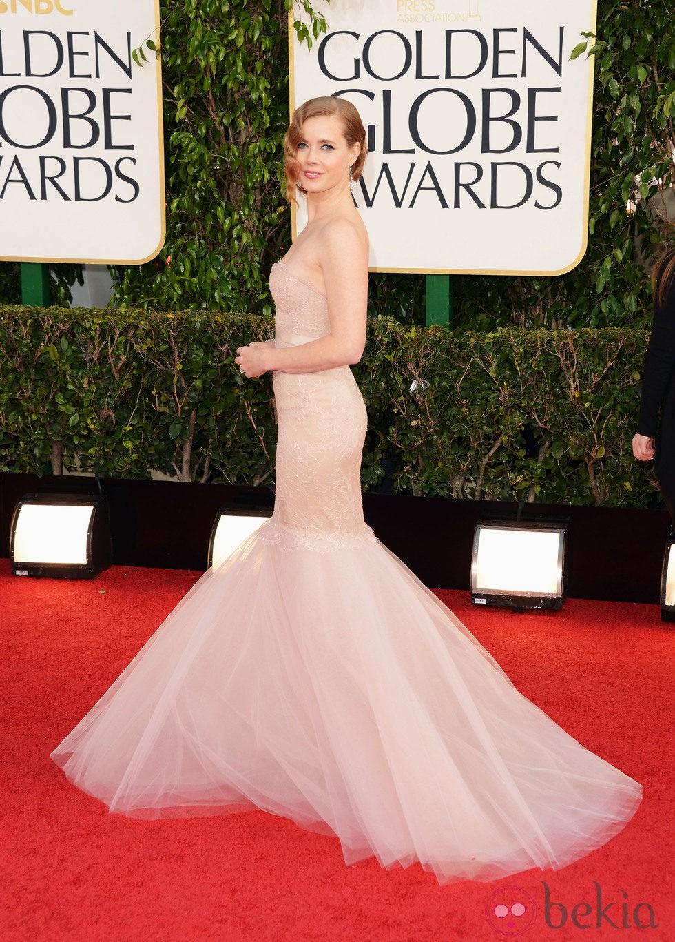 Amy Adams en la alfombra roja de los Globos de Oro 2013