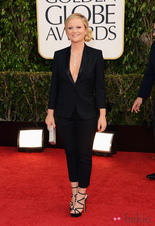Amy Poehler en la alfombra roja de los Globos de Oro 2013