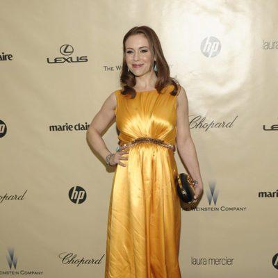 Alyssa Milano en la fiesta Chopard tras los Globos de Oro 2013