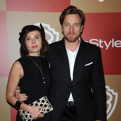 Ewan McGregor y Eve Mavrakis en la fiesta InStyle tras los Globos de Oro 2013