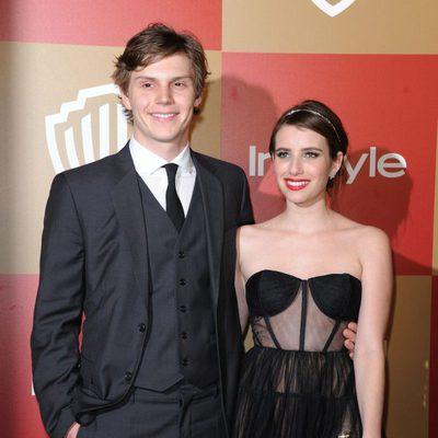 Emma Roberts y Evan Peters en la fiesta InStyle tras los Globos de Oro 2013