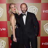 Rosie Huntington-Whiteley y Jason Statham en la fiesta InStyle tras los Globos de Oro 2013