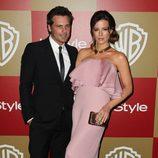Len Wisemen y Kate Beckinsale en la fiesta InStyle tras los Globos de Oro 2013