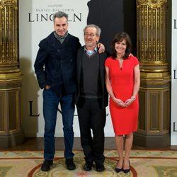 Daniel Day-Lewis, Steven Spielberg y Sally Field estrenan 'Lincoln' en Madrid