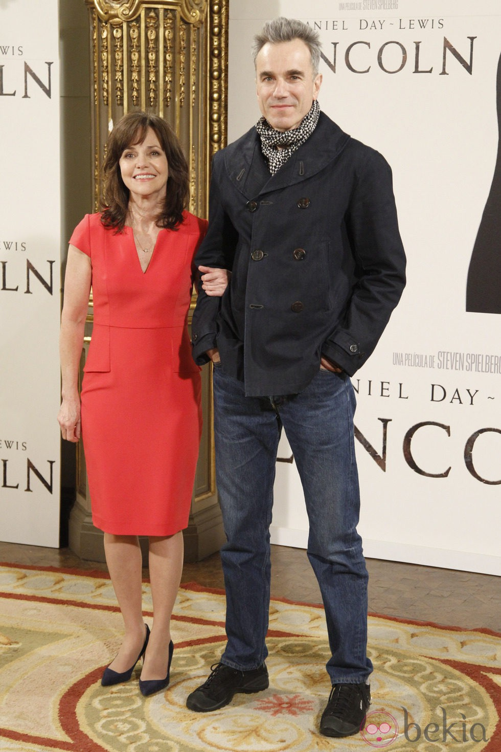 Daniel Day-Lewis y Sally Field en el estreno de 'Lincoln' en Madrid