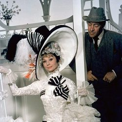 Audrey Hepburn junto a Rex Harrison en 'My Fair Lady'
