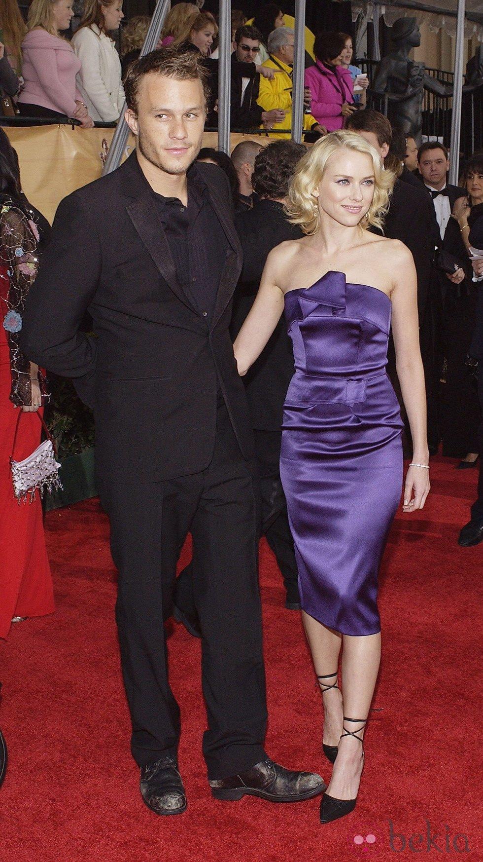 Heath Ledger y Naomi Watts en los SCA 2004
