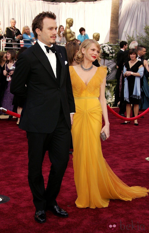 Heath Ledger y Michelle Williams en los Oscar 2006