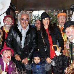 Flavio Briatore y Elisabetta Gregoraci con su hijo en el Festival de Circo de Monte-Carlo 2013