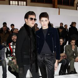 Harry y Peter Brant en la Semana de la Moda de París otoño/invierno 2013/2014