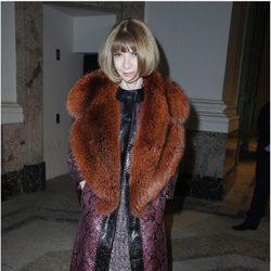 Anna Wintour en la Semana de la Moda de París otoño/invierno 2013/2014