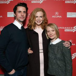 Matthew Goode, Nicole Kidman y Mia Wasikowska en el Festival de Sundance 2013