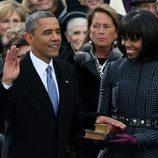 Barack Obama jura su cargo junto a Michelle Obama frente al Capitolio