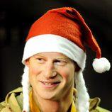 El Príncipe Harry con un gorro de Papá Noel en Afganistán