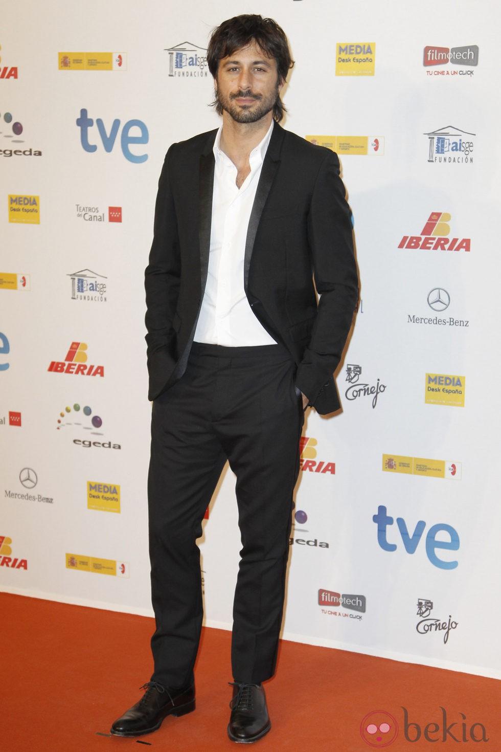Hugo Silva en los Premios José María Forqué 2013