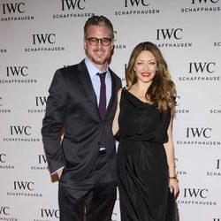 Eric Dane y Rebecca Gayheart en el salón de la relojería de lujo de Ginebra 2013