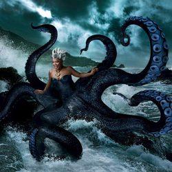 Queen Latifah convertida en el personaje Disney de 'La Sirenita' Úrsula